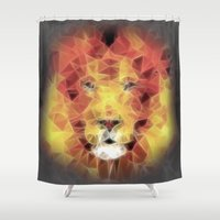 lion king Shower Curtains featuring lion king by Ancello