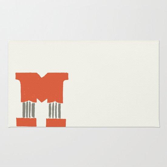 M Lettering Rug