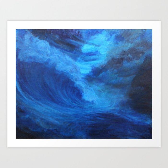 Blue Storm Art Print