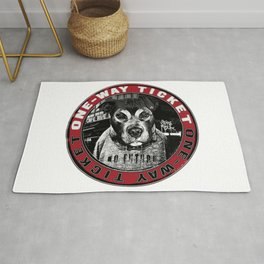 Dog in the City (one-way ticket) Rug