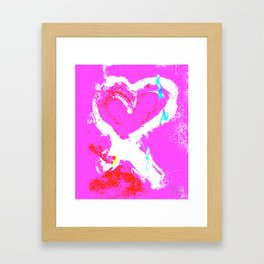 Pink Graffiti Ribbon for Breast Cancer Research by Jeffrey G. Rosenberg Framed Art Print