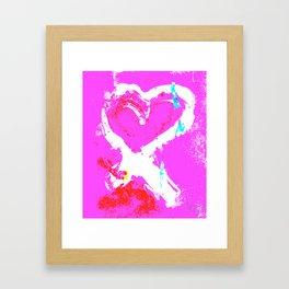 Pink Graffiti Ribbon for Breast Cancer Research by Jeffrey G. Rosenberg Framed Art Print