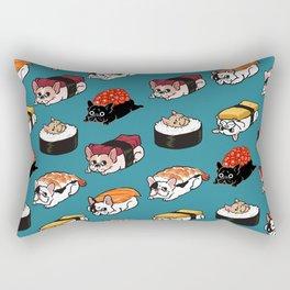 Sushi Frenchie Rectangular Pillow