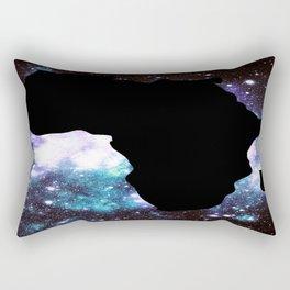 African Galaxy : Purple Teal Green Rectangular Pillow