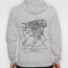 TEHRAN IRAN BLACK CITY STREET MAP ART Hoody