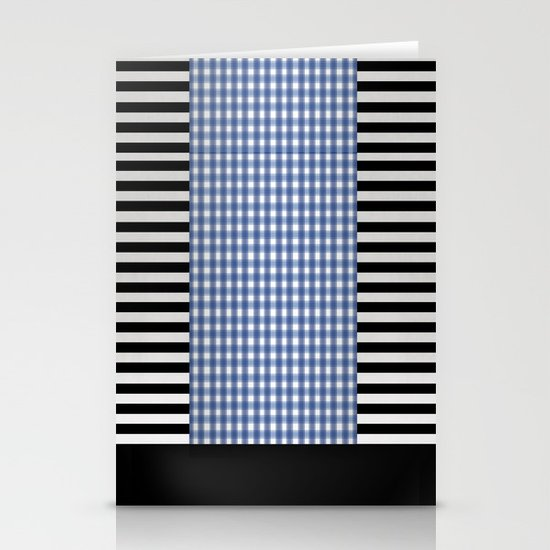 Black And Blue Stationery Cards