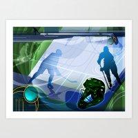 hockey Art Prints featuring Hockey by Tami Cudahy