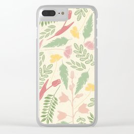 Summer tulips Clear iPhone Case