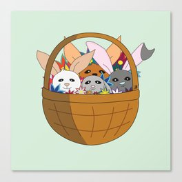 Bunny basket Canvas Print