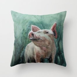 One Bad Pig Throw Pillow