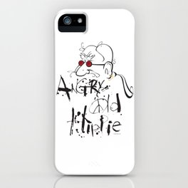 Angry Old Hippie (Original) iPhone Case
