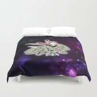 storm trooper Duvet Covers featuring Space Storm Trooper by JK Designs