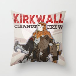 DA2 - Kirkwall Cleanup Crew Throw Pillow