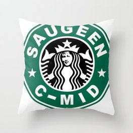 Starbucks C MID Throw Pillow