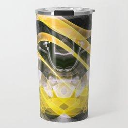 abstract digital color modern Travel Mug