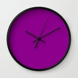 Dark Magenta - solid color Wall Clock