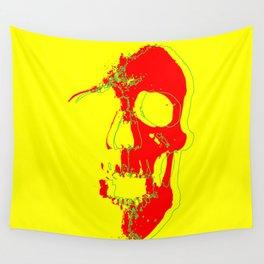 Skull - Red Wall Tapestry