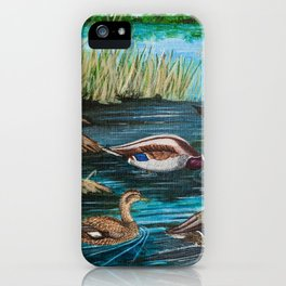 Lake Tranquility Ducks iPhone Case