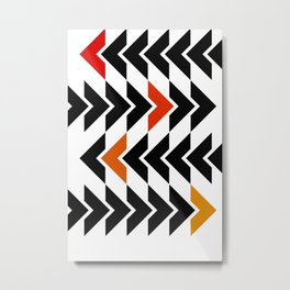 Arrows Graphic Art Design Metal Print