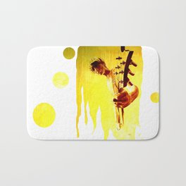 my son is a guitar god Bath Mat