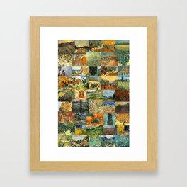 Vincent van Gogh Montage Framed Art Print