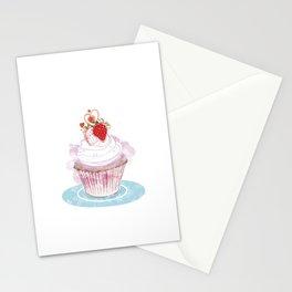 Strawberry Cupcake  Stationery Cards