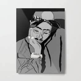 Thug in thought Metal Print