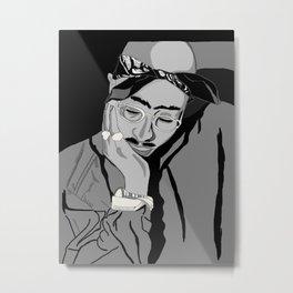Thug in thought Metal Print