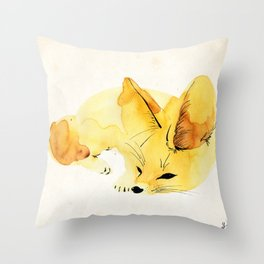 Fennec Throw Pillow