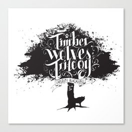 The Timber Wolves Trilogy Canvas Print
