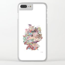 Germany map Clear iPhone Case