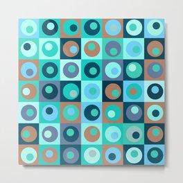 Circles and Squares Pattern 3 Metal Print