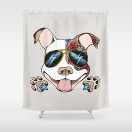 Pits & Giggles Shower Curtain