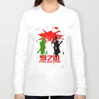 palestine Long Sleeve T-shirts featuring Palestine Code by Maxvtis