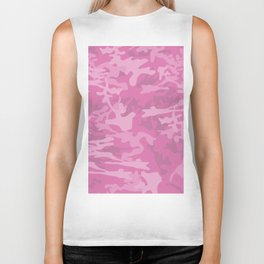 Pink Camouflage- Usaf Accessories for woman And Lifestyle Biker Tank
