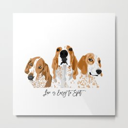 Redtick Love is Easy Metal Print