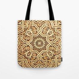 India style, Mandala, carving Tote Bag