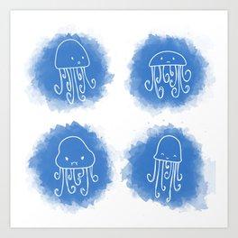 Jelly cute fish! Art Print