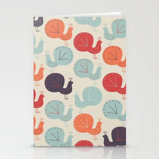 Peacock Pattern Stationery Cards