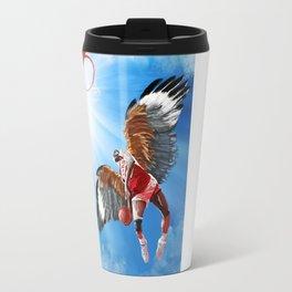 Dominique Wilkins Hawk Travel Mug