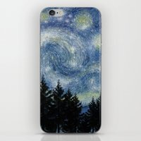 starry night iPhone & iPod Skins featuring Starry Night by Astrablink7