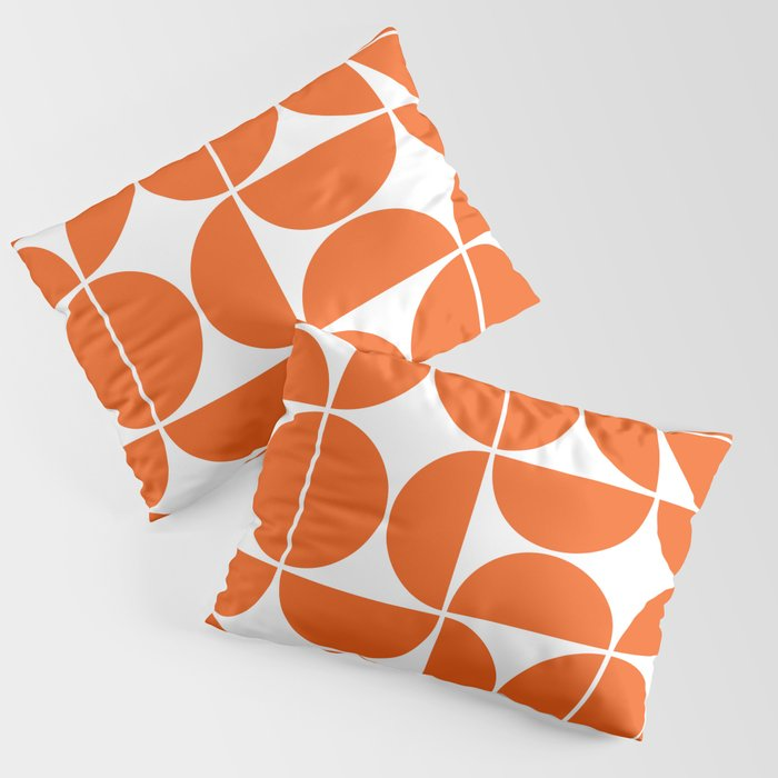 Mid Century Modern Geometric 04 Orange Kissenbezug