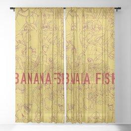 Banana Fish Sheer Curtain