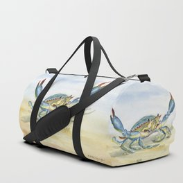 Colorful Blue Crab Duffle Bag