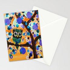 :: Sunset Gemmy Owl :: Stationery Cards