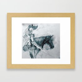 Knight : Early Concept Sketch (KIN film) Framed Art Print