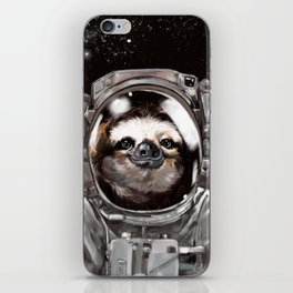 Astronaut Sloth Selfie iPhone Skin