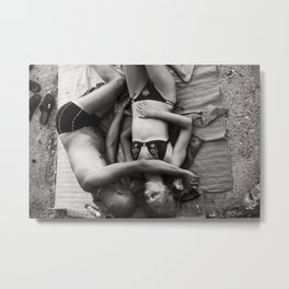 Lovers on the beach Metal Print