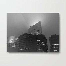 Citigroup Center in Fog Metal Print