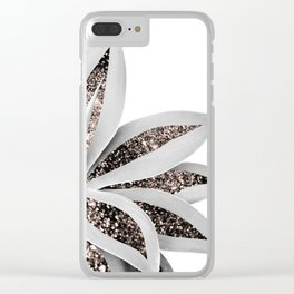 Agave Finesse Glitter Glam #1 #tropical #decor #art #society6 Clear iPhone Case